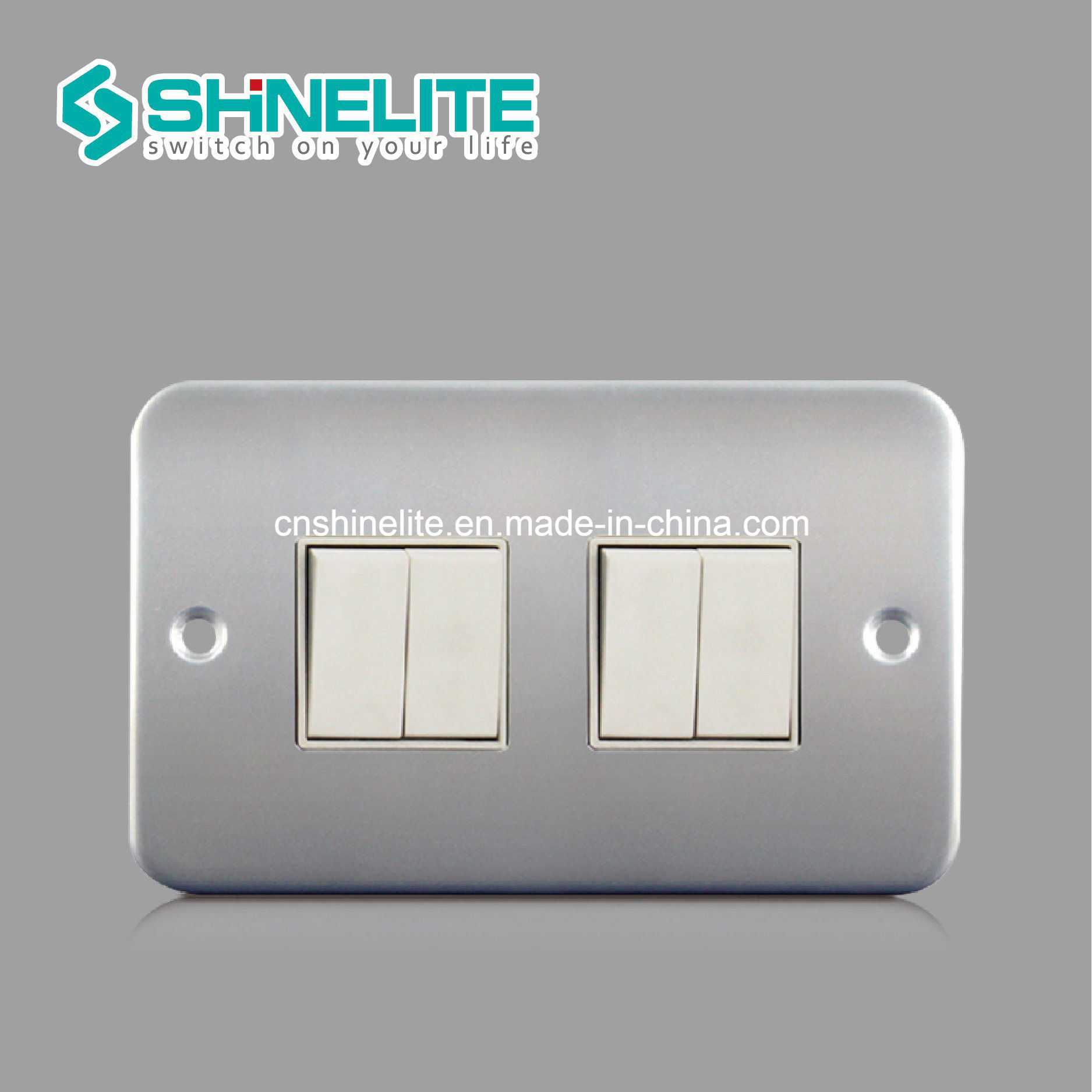 China Metal Clad 2 Gang 1 Way Electric Switch Ce Certificate Photos