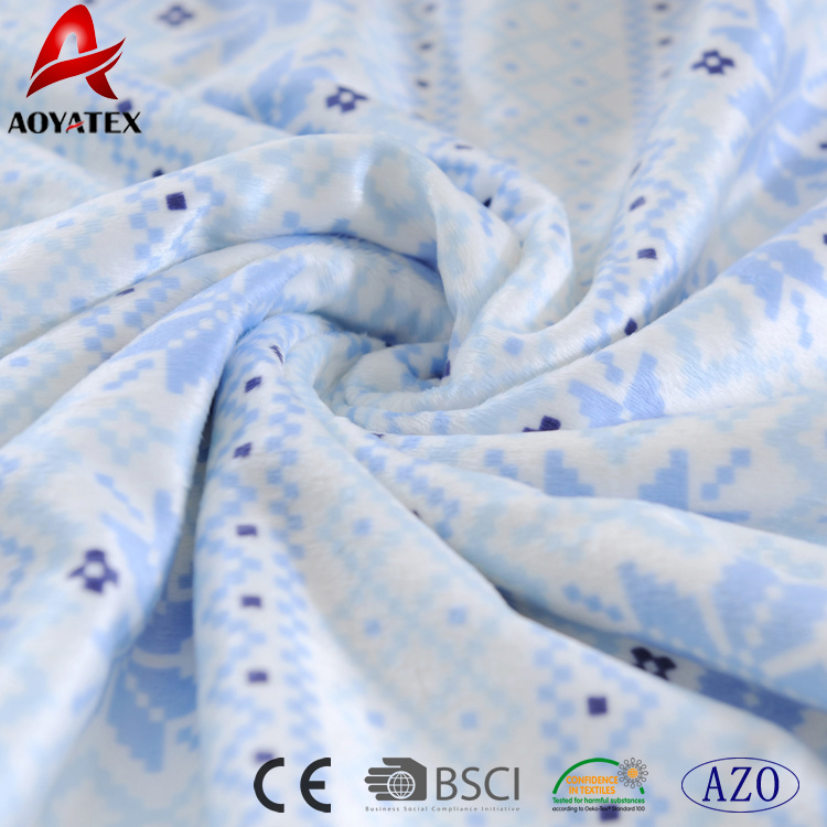 f36c4e6ef955 China 100% Polyester Christmas Design Pattern Microfiber Fleece Baby ...