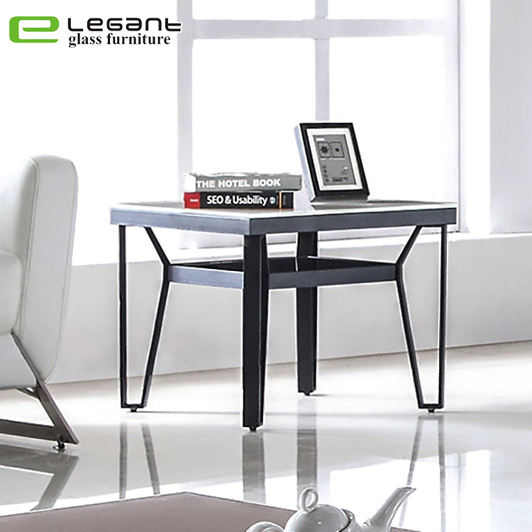 China Stainless Steel Table Legs Small Furniture Glass Side Table