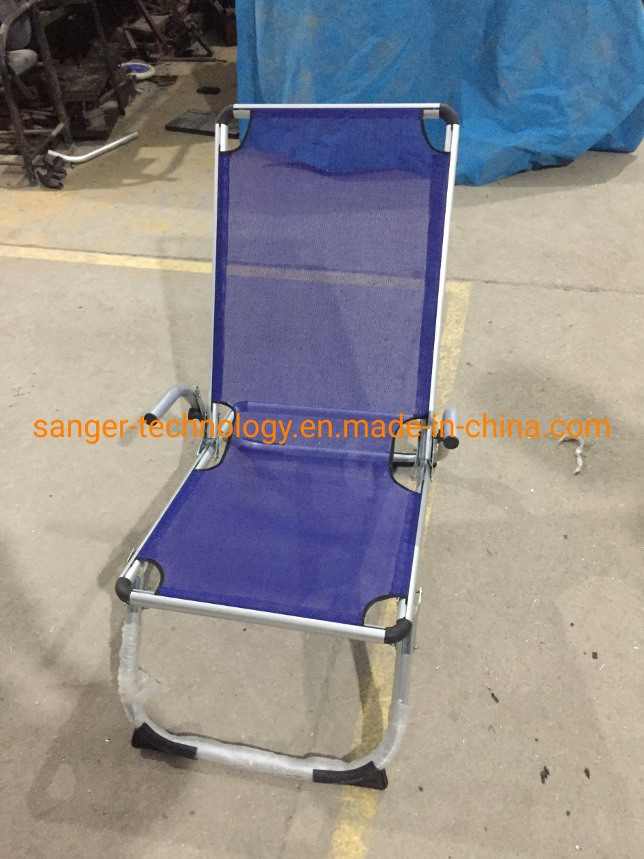 Hot Item Royal Blue Aluminum Frame Folding Sling Chair High Back Armrest Beach Chair Indoor Outdoor