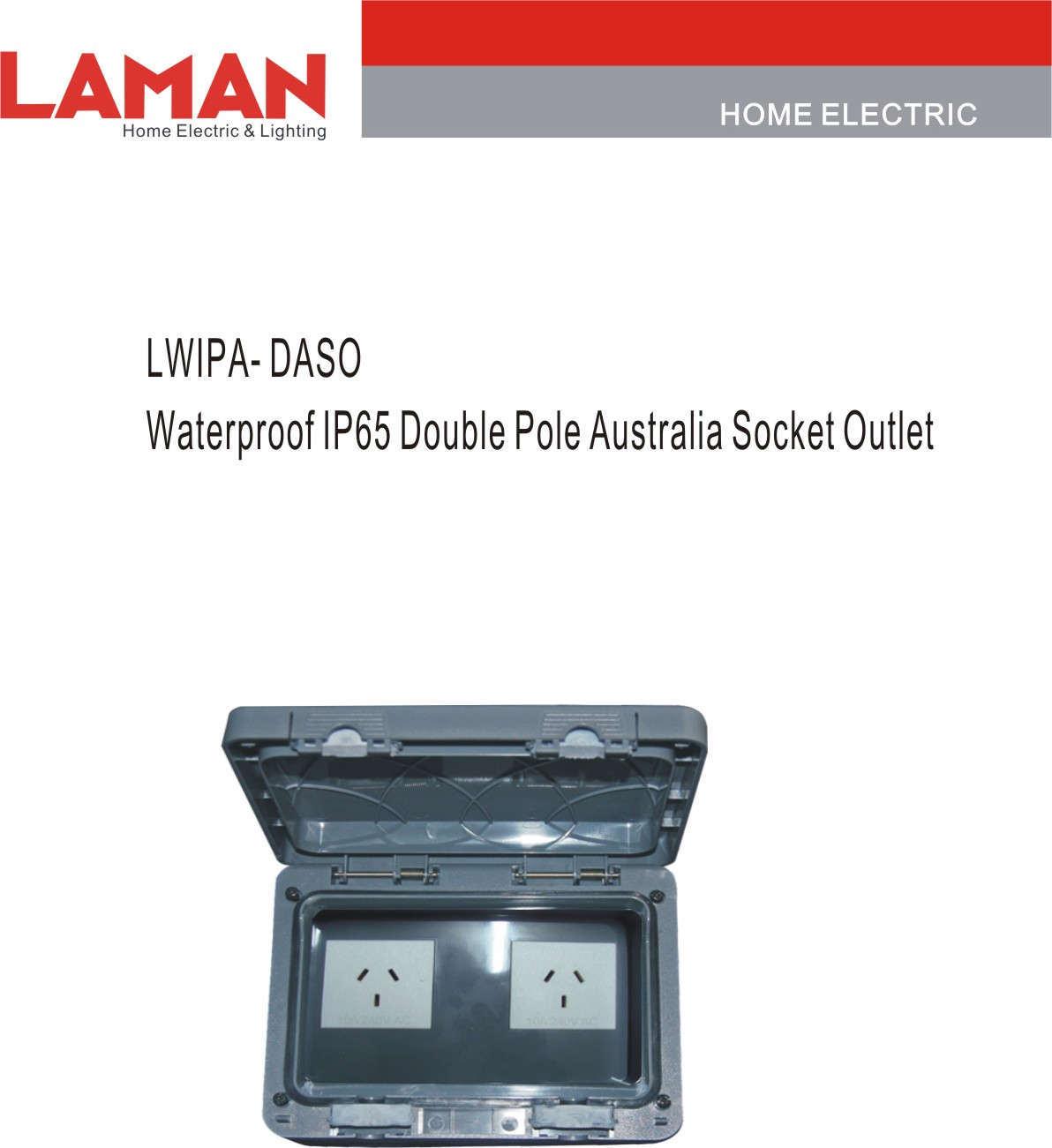 China LWIPA-DASO IP65 Waterproof Double Pole Australia