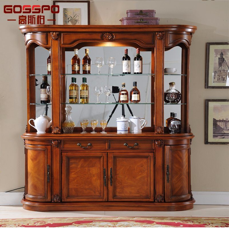 Hot Item French Style Hot Sale Antique Wood Wine Rack Cabinet Gsp19 002