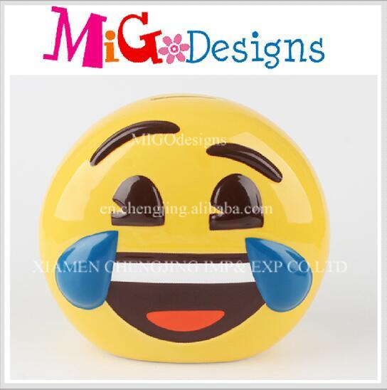 Ceramics Hand-Made Gift Wholesale Smile Face Pig Bank
