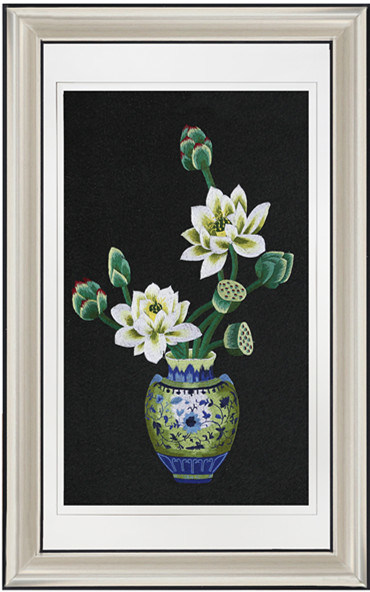 China New Arrival Flower Vase Painting Designs For Living Room