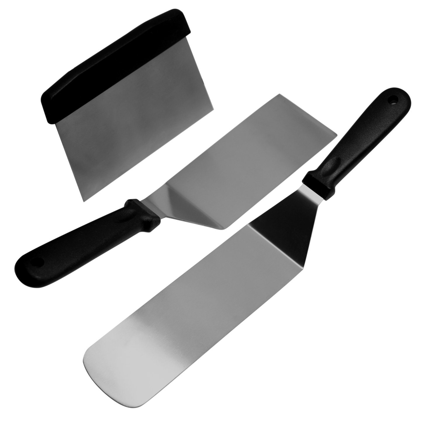China 3piece Stainless Steel Flat-Top Spatula and Scraper ...