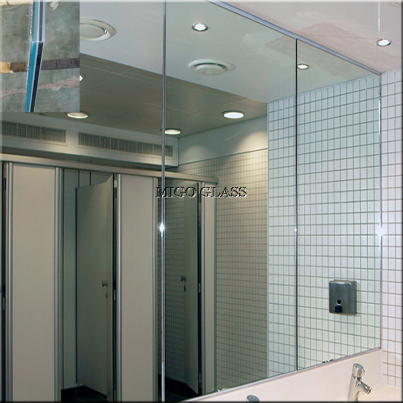 China laminated glass mirror for architecture gym bathroom