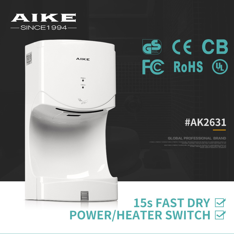 AK2631 Home Appliance Wall Mounted Auto High Speed Air Jet Hand Dryer for Bathroom pictures & photos