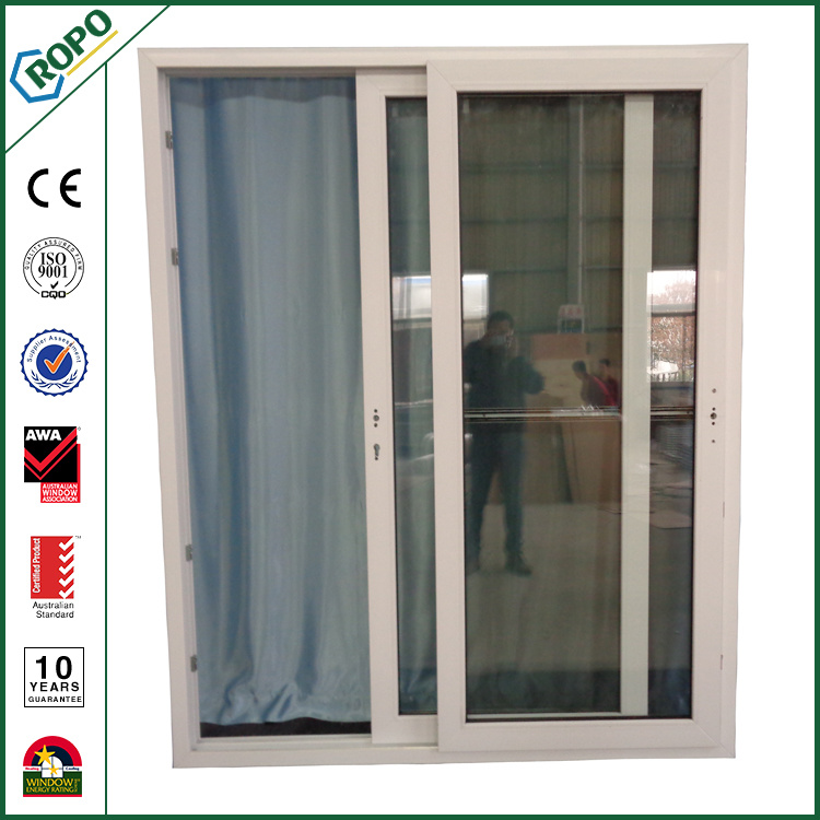 China Two Panel Upvc Double Glazed Sliding Patio Door Plastic