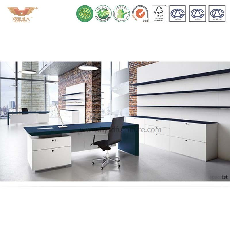China New Design Office Desk Ceo Melamine Wooden Furniture Executive