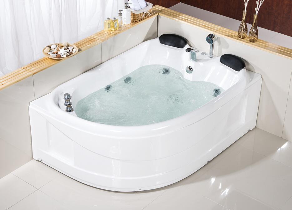 China CE Double Persons Acrylic Rectangle Shape Hydro Massage Bath ...