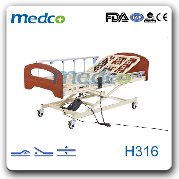 Electric Three Function Super-Low Home Care Bed H316
