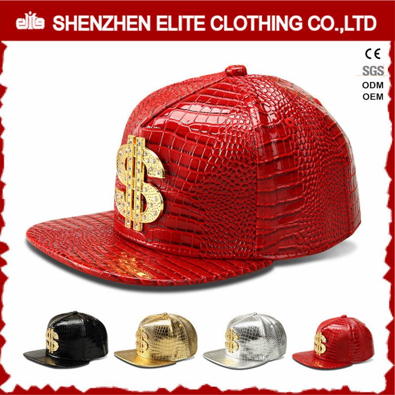 Hip Hop Men Custom Logo Leather Baseball Cap pictures & photos