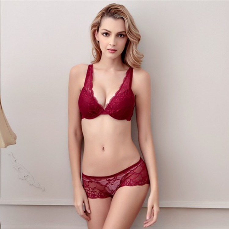 73ff793d259 China Sexy Bra Panty Sets in Stock (EPB320) - China Plunge Bra