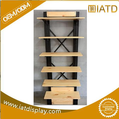 China Pop Up Wooden Book Display Exhibition Stand For Cosmetic