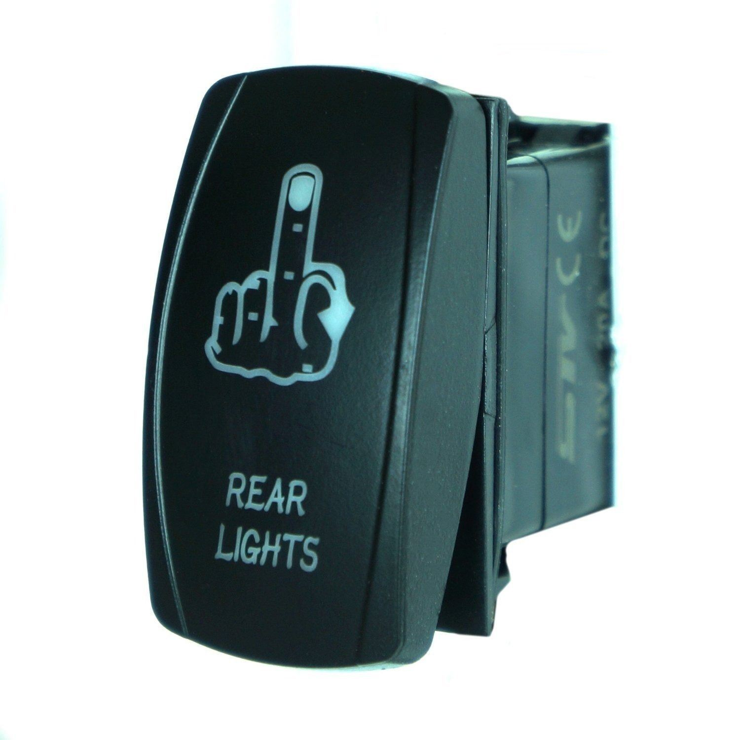 China Laser Blue Rocker Switch Finger Rear Lights 20A on/off LED ...
