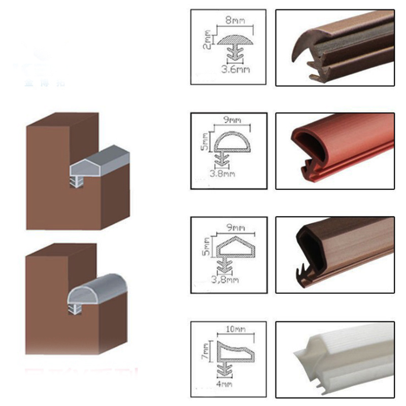 Wooden Door Soundproof TPE Rubber Sealing Strip