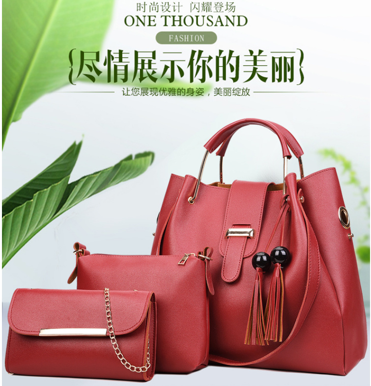 Hot Item Factory Whole Lady Handbag Set 3pcs Women Bag