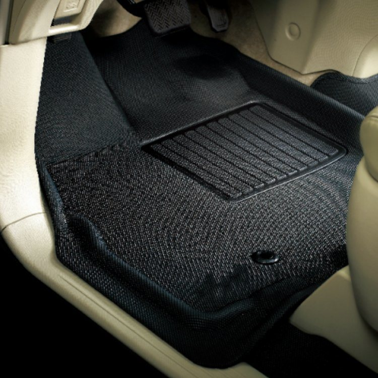 Custom Car Floor Mats for Land-Rover Discovery 4 5-Seats 2010-2016 Leather Custom Fit All-Weather Protection Floor Liners Waterproof Foot Pad Carpets Black-Red