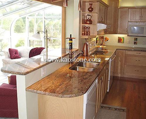 China Granite/Marble/Artificial Quartz Kitchen Countertop ...