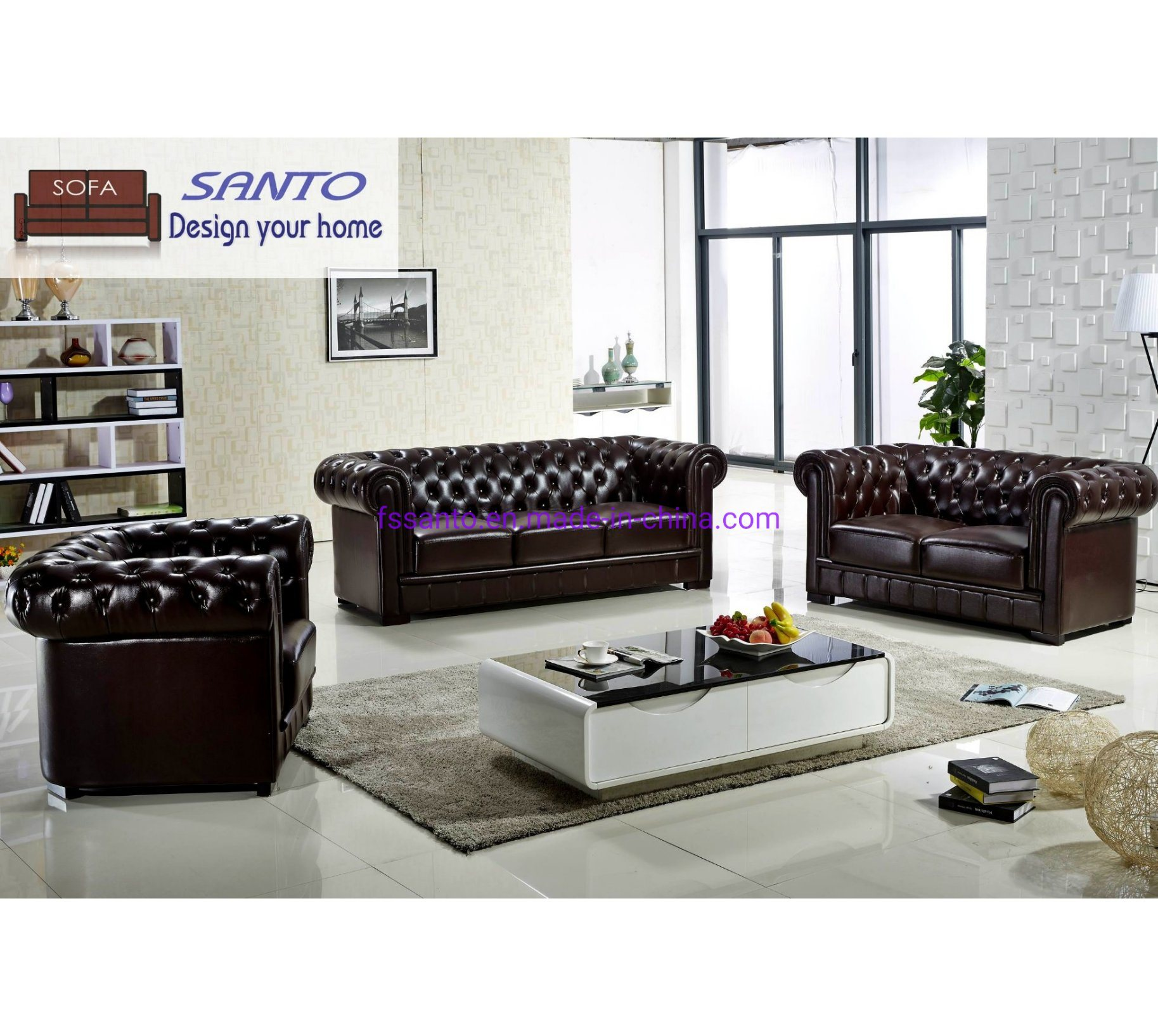 [Hot Item] 2019 Latest Sofa Design Living Room Sofa Italian Chesterfield  Sofa