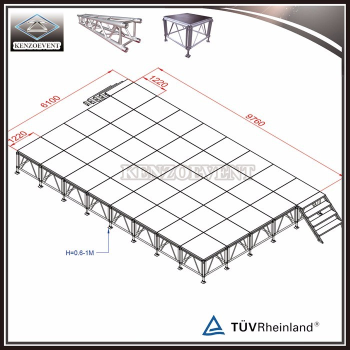 Aluminum Adjustable Mobile Event Stages for Sale pictures & photos