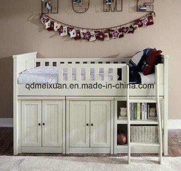Custom Children Bed With Slide Wood