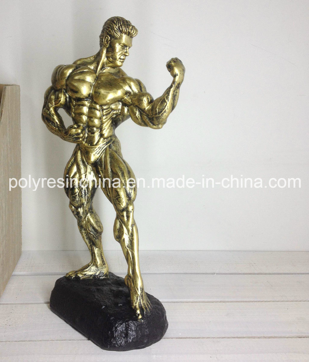 Sports Bronze Fitness of Muscle Man Bodybuilder Statue