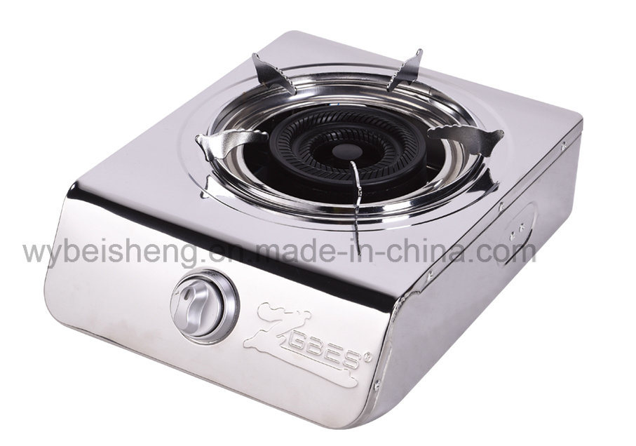 Deaktop Single Burner Gas Stove, Stainless Steel