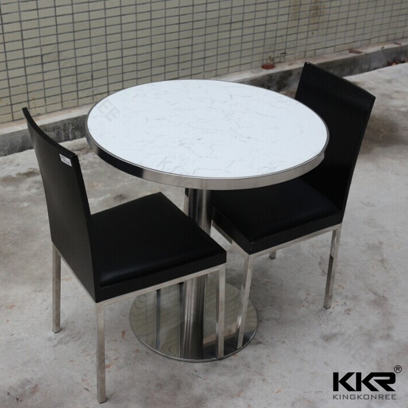 White Quartz Top Round Restaurant Table With Chair181212 China