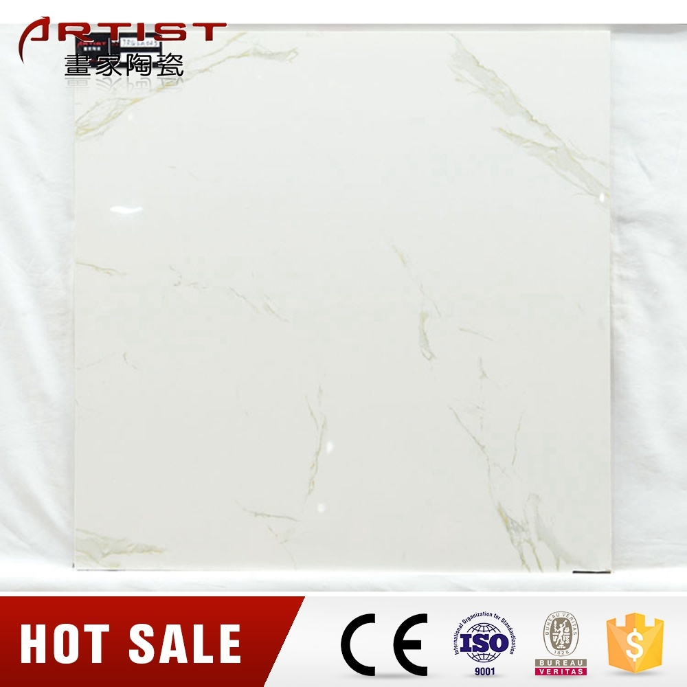 China Calacatta White Super Glossy Glazed Porcelain Floor Tile