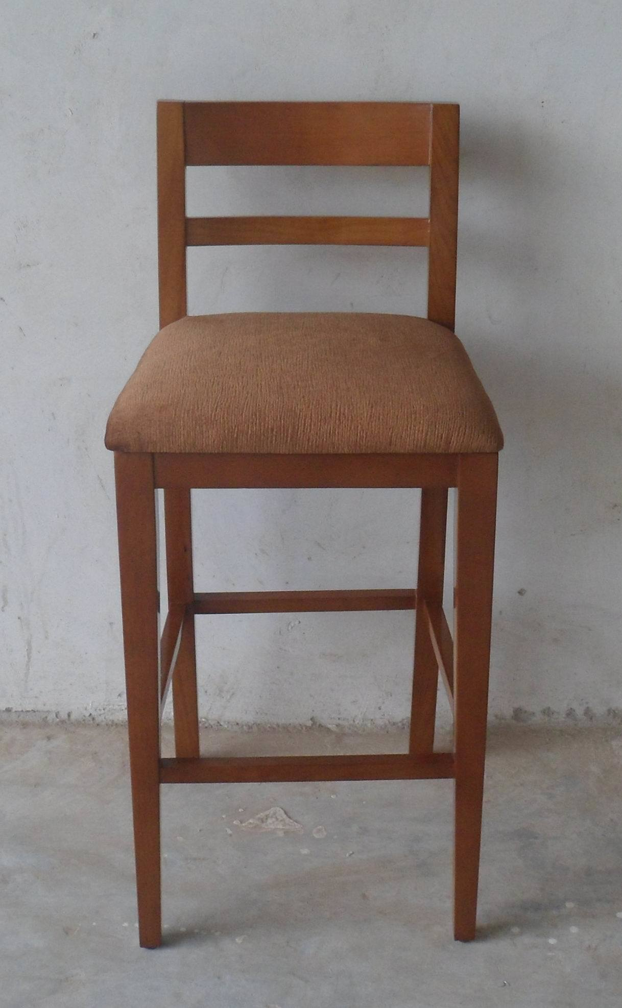 Hot Item Good Design Wood New Bar Stools With Fabric Seat And Back Bc 030