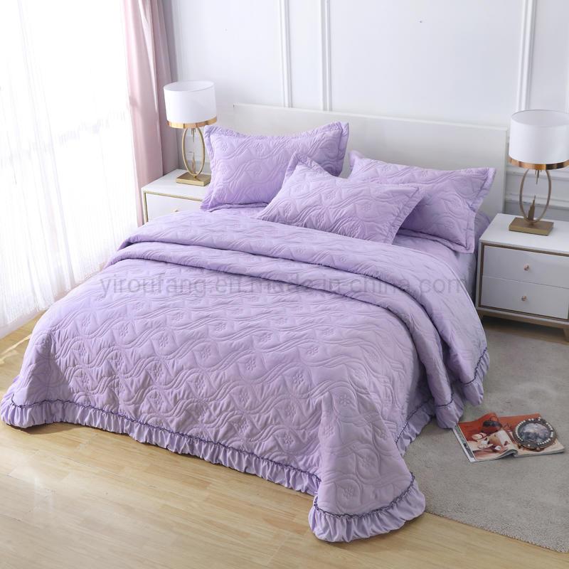 China Hotel Bedding Lavender Cotton, Pink Purple Bedspread Queen