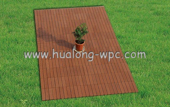 HDPE Flooring+Plastic Base WPC Interlocking Decking Tiles (HL-300*300) pictures & photos
