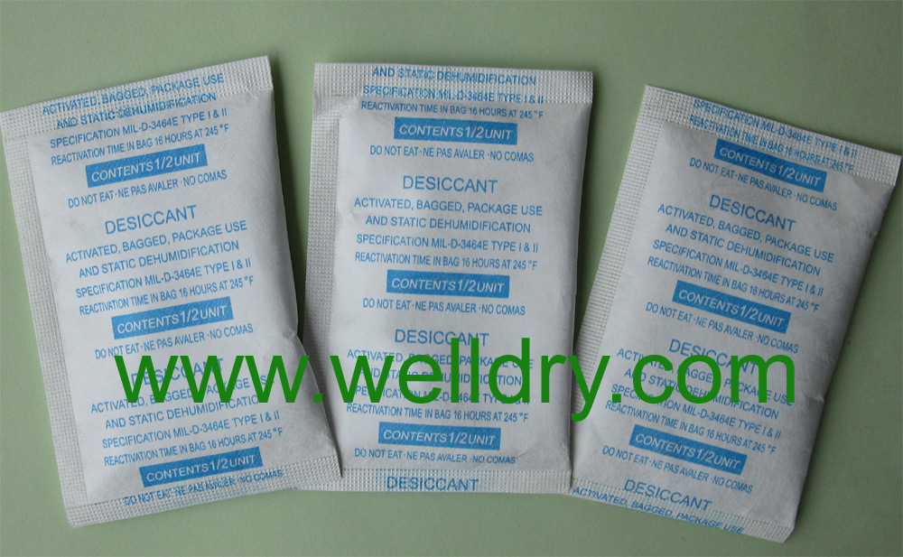 Clay Desiccant in Tyvek Bag, 1/6unit- 16unit