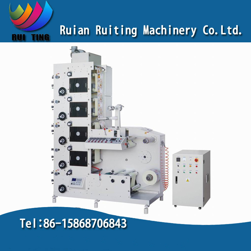 Rtry-320e 5 Color Narrow Web Flexo Printing Machine for Label