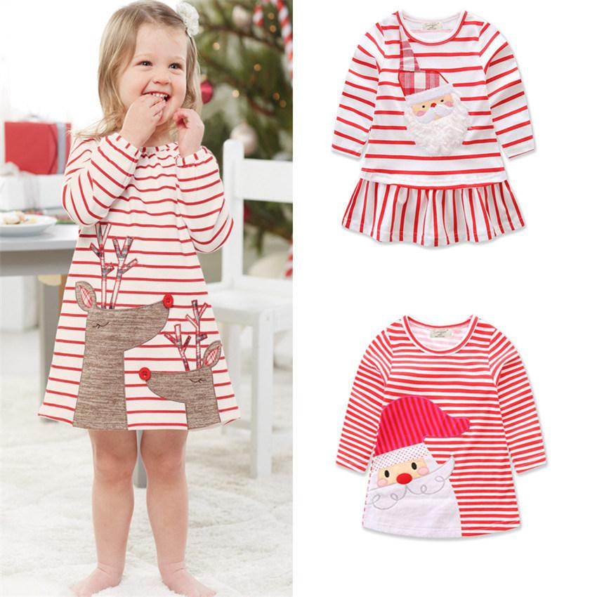 China Toddler Kids Baby Girls Santa Striped Princess Dress, Baby ...