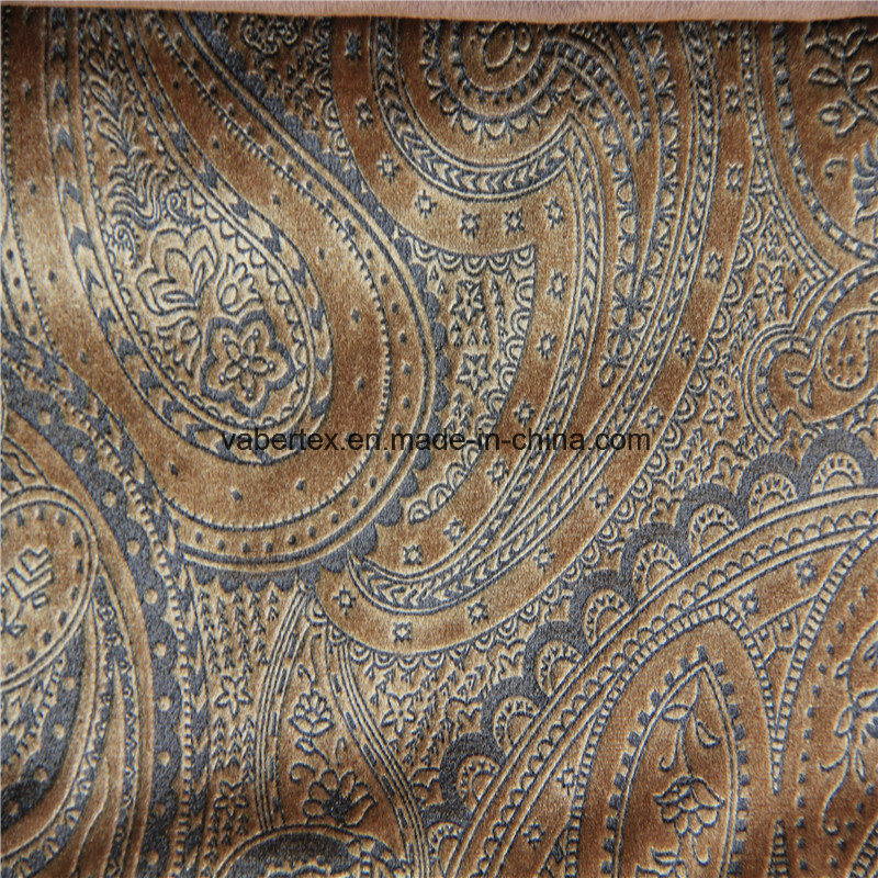 China Printed Velvet Home Textile Polyester Curtain Sofa Upholstery