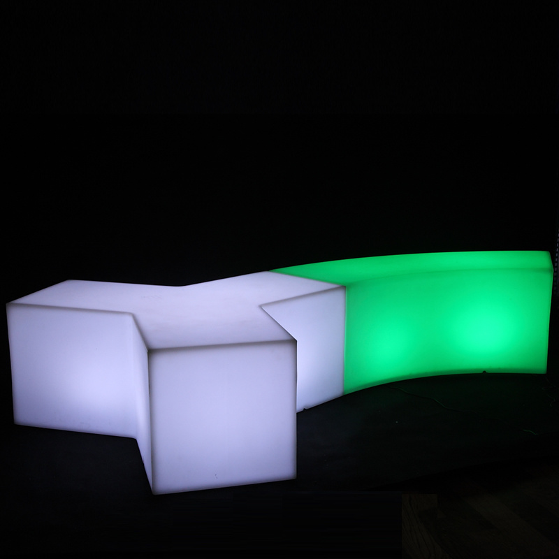 Led Light Up Patio Furniture Rgb Plastic Bar Stool For