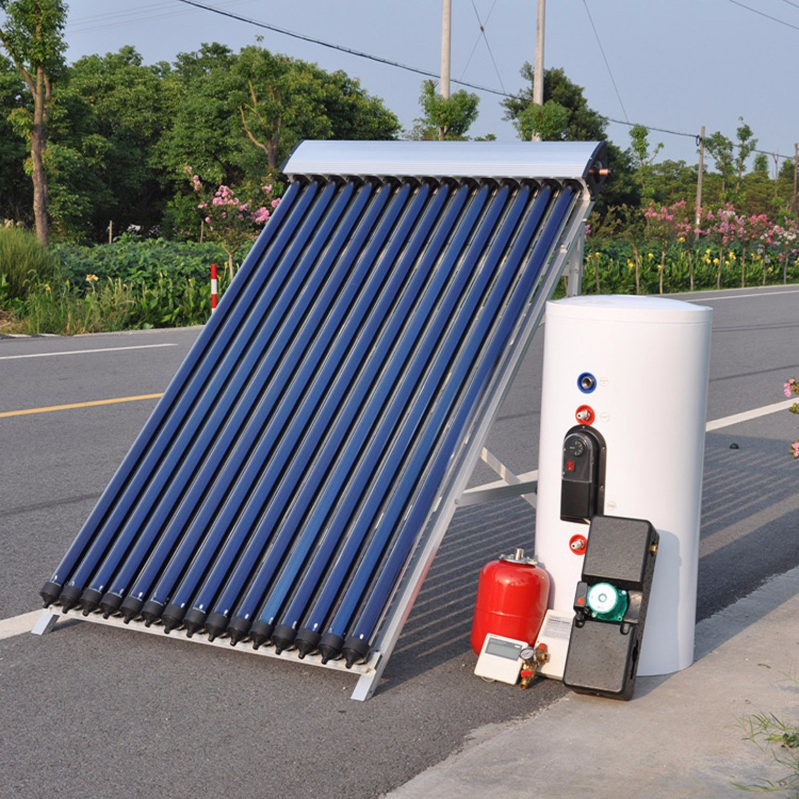 China High Pressurized Split Heat Pipe Solar Collector Solar Hot ...