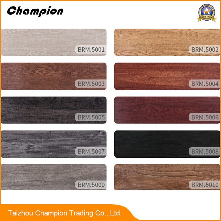 PVC Flooring With Wood Grain Used For Indoor Living Room Bedroom Kitchen Balcony Study And Office Building Meeting