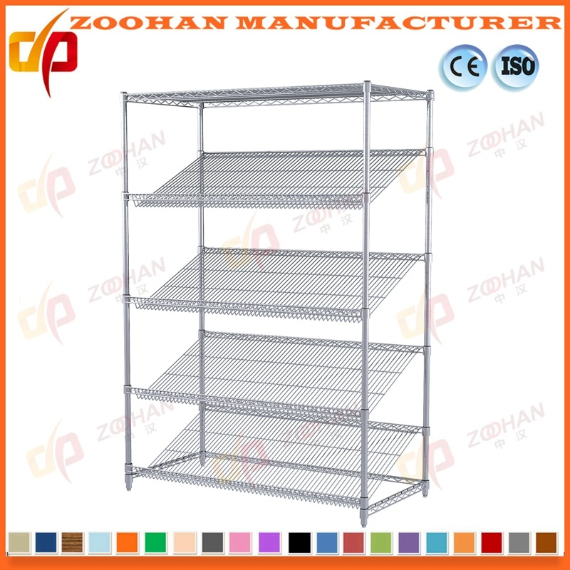 China Adjustable Metal Slanted Shelf Unit Expands Wire Shelving ...
