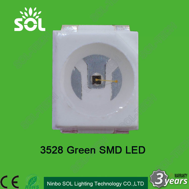 [Hot Item] 2 8-3 4V 520-525nm 500-1100mcd Green Color 3528 SMD LED