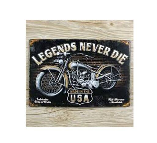 "Rectangle Metal Signs Plaque Wall Art Home Decoration with ""Motor Cycle"""