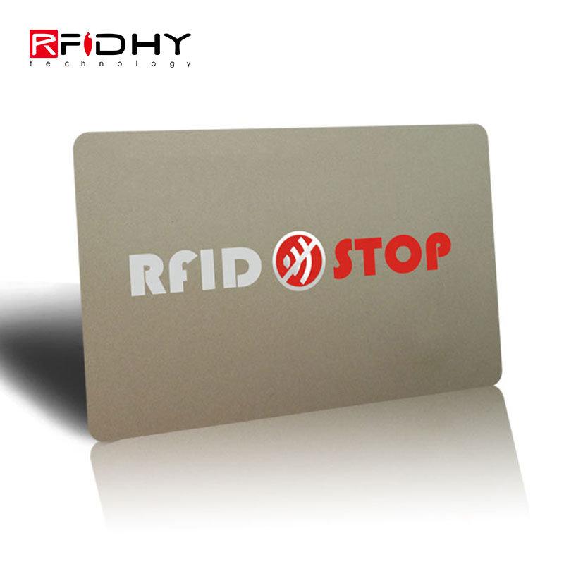 fd04aafa0aa2 [Hot Item] RFID Blocking Card to Block RFID / NFC Signals Form Credit Cards  and Passports