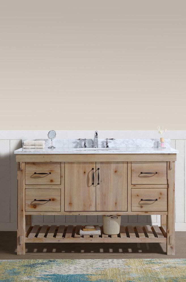 Modern Timber Wood Bathroom Vanity