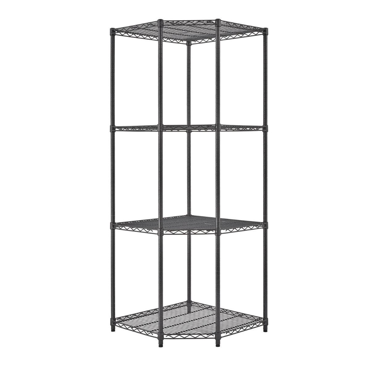 Hot Item Corner Shelf 4 Layers Adjustable Metal Storage Shelf Unit Food And Beverage Organization Wire Shelving Racks