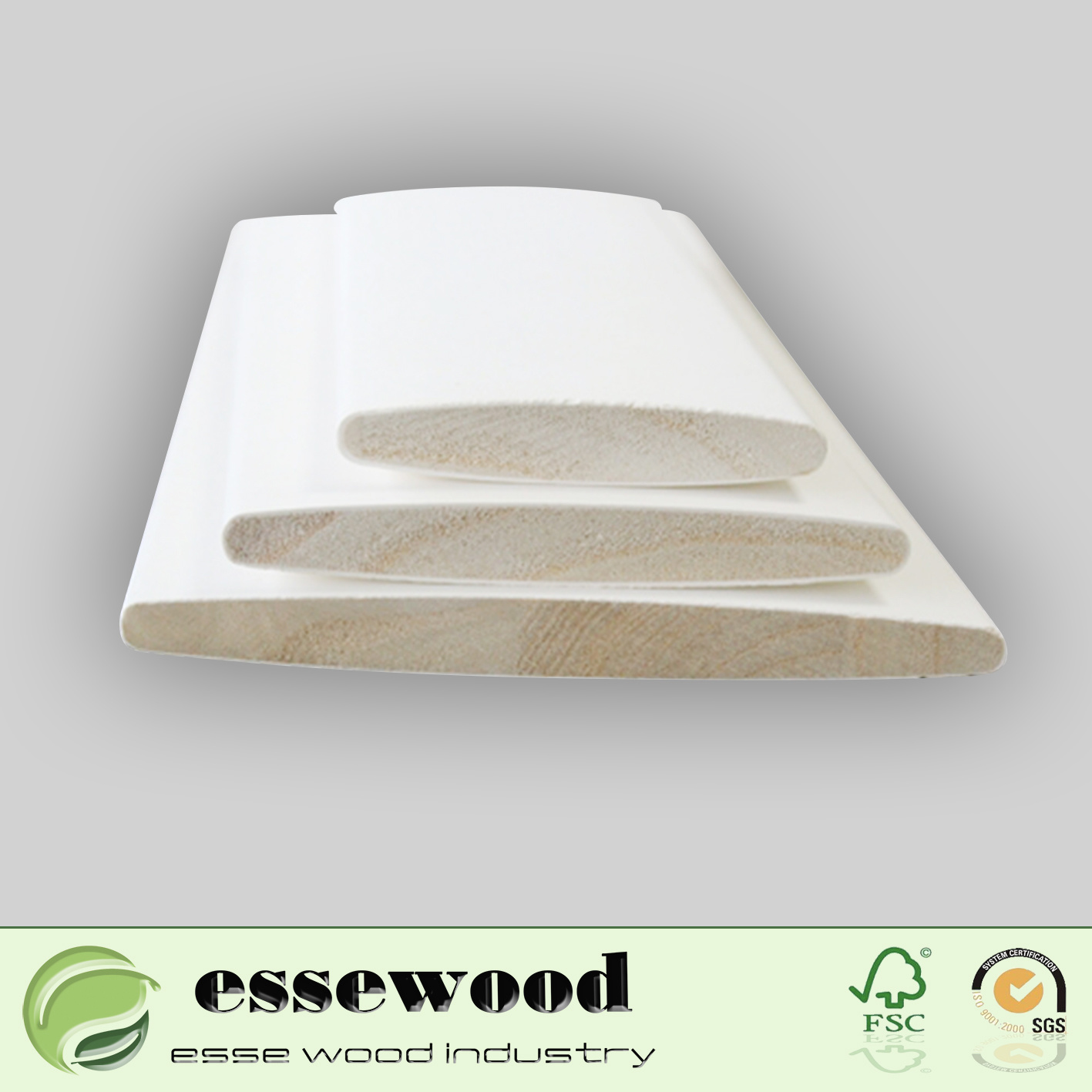 Hot Item White Primer Wooden Plantation Window Louver Shutter Parts Components For Interior And Exterior