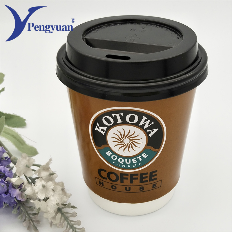 Double Wall Paper Cup with Lid, Insulated Coffee Cup, Paper Cup Factory  Market Use