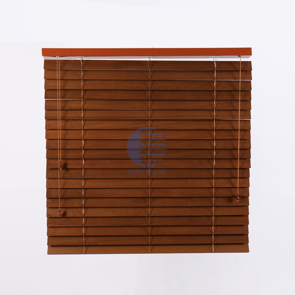 [Hot Item] Decorative Window Shades Foam Wood Blinds with Good Blackout