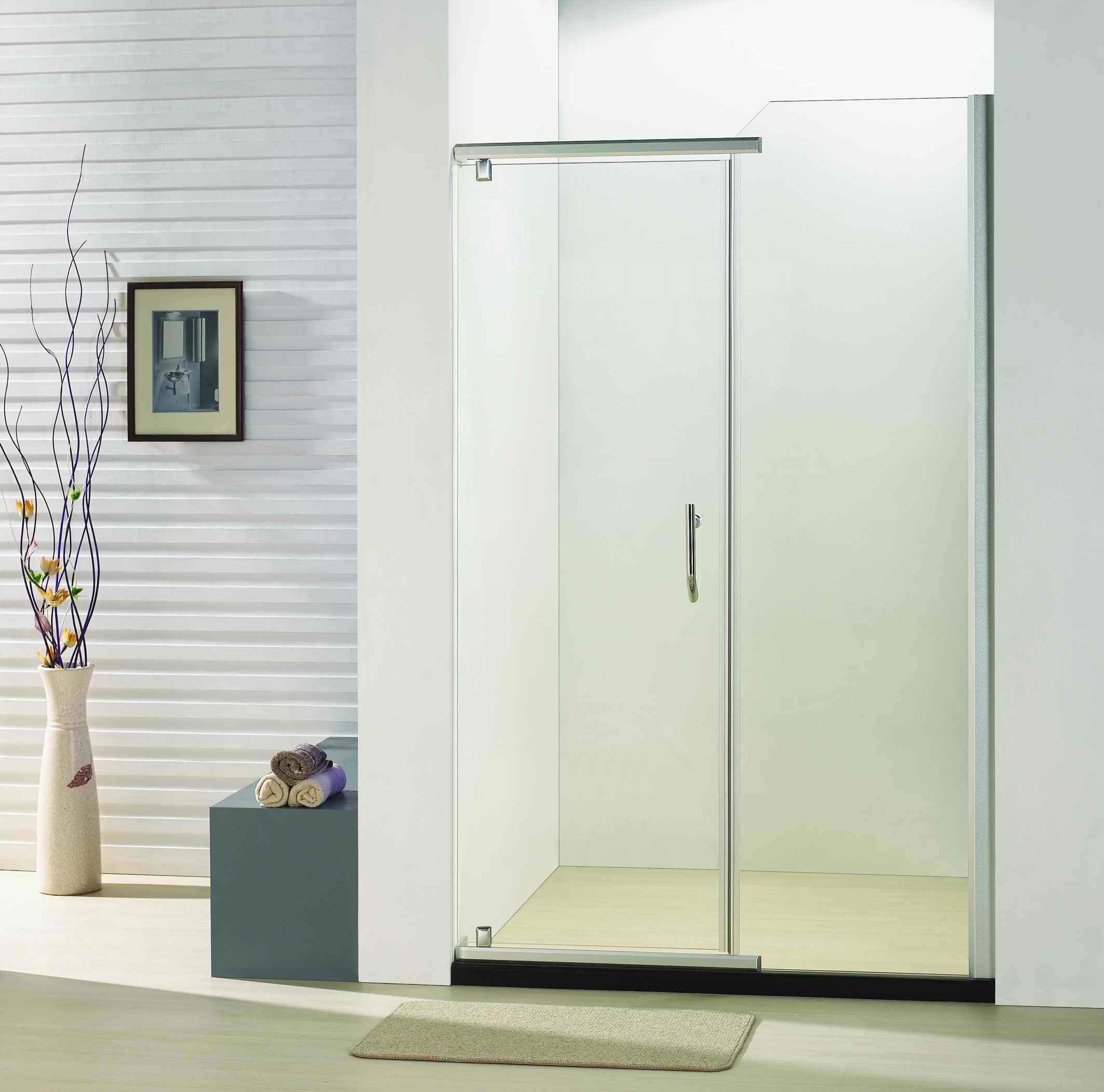 Hot Item Bb920 Bathroom 8mm Tempered Glass Pivot Door Shower Door